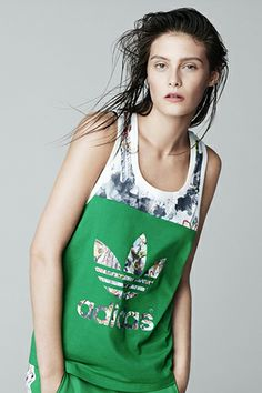 Topshop + adidas collab  love the tank but hate the hair