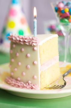 High-Res Stock Photography: Slice of birthday cake