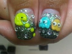 My new nails :]PACMAN! in 3d
