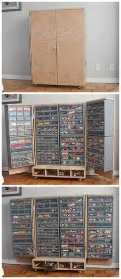 Lego sorting by colour just won't do ....but the cupboard is amazing!
