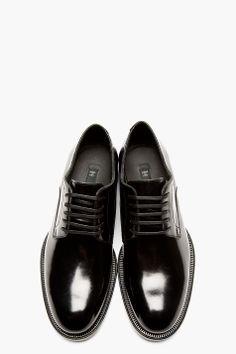 0062aa8669cc DSQUARED2 Black Buffed Leather Classic Derbys Mens Shoes Boots, Men s Shoes,  Shoe Boots,