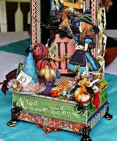 Halloween Home Decor with Graphic 45 Shadow Boxes! Halloween Home Decor, Halloween House, Halloween Crafts, Happy Halloween, Halloween Decorations, Alice In Wonderland Crafts, Magic Of Oz, Scrapbook Paper Crafts, Scrapbooking