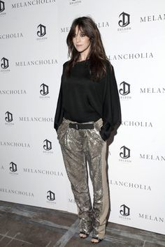 Charlotte Gainsbourg in Balenciaga pants
