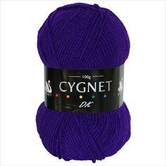 Cygnet DK is a beautiful, classic double knitting yarn.  £1.50 on ebid