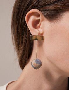 Kathleen Whitaker Chalcedony Drop Earrings