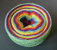 1-ply wool yarn for lace knitting, Artistic yarn, Kauni yarn in rainbow colors, measure 8/1, 100 GRAMS on Etsy, $8.03 AUD