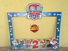 Photo frame Paw patrol, Party ideas Paw patrol, ideas fiesta patrulla de cachorros marco para fotos