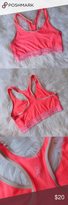 Hot Pink Under Armour Bra Hot Pink Under Armour Bra. Is in perfect condition, except the band as shown in the 4th photo. Under Armour Intimates & Sleepwear Bras