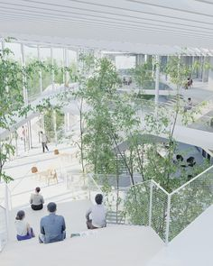 sou fujimoto paris school oxo architectes learning centre ecole polytechnique designboom