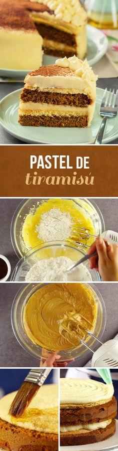 Si te encanta el tiramisú tradicional italiano, este pastel tiramisú se volverá tu preferido. Dale una presentación muy elegante y regálalo a mamá en su cumpleaños.