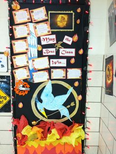 Door decorating- Hunger Games theme