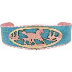 Horse Blue Patina Bracelet