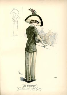 [De Gracieuse] Elegant wandeltoilet (July 1912)