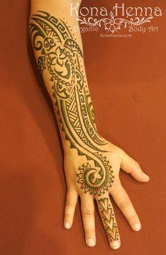 Organic Henna Products.  Professional Henna Studio. KonaHenna.com #turtle #honu #tribal #polynesian