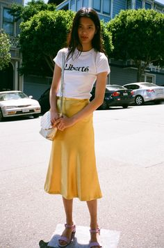 Yellow is this season's big spring summer colour, however, you know it will always be a hit no matter the year. Women's Spring Summer street style.