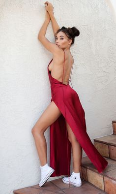Ashley Moore in ARE YOU AM I Nyissa Dress