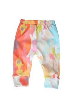organic cotton leggings in watercolor ikat from candy kirby designs