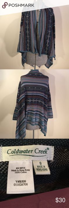 Cold Water Creek Get the boho vibe with this like new cozy open sweater. 100% cotton Coldwater Creek Sweaters Cardigans