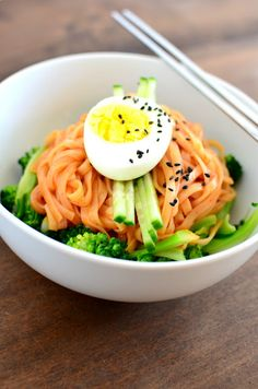 Bibimguksu (비빔국수) Korean Spicy Cold Noodles