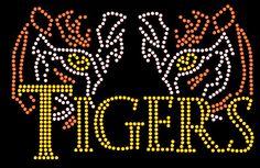 Tigers  Rhinestone bling shirt Blingitallover@gmail.com www.facebook.com/Blingitallover