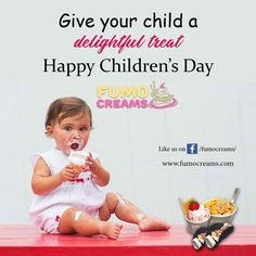 Enjoy the spirit of Children's Day. Happy #ChildrensDay from Fumo Creams.  #HappyChildrensDay #FumoCreams