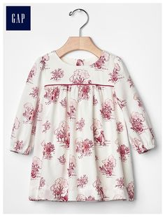Long-sleeve forest dress, size 6-9 or 9-12