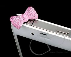 DS. Styles - Bow Crystal Headphone Jack Plug    That kills lady!!!