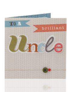 Classic 3D Text Uncle Birthday Card | MS
