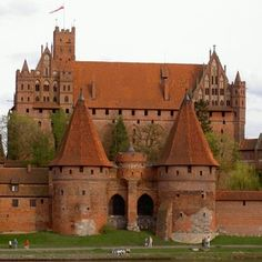 Malbork Castle, Poland ~ the largest castle in the world by surface area, and the largest brick building in Europe.