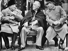 Yalta Conference meeting (Feb 4-11 1945) at Yalta Crimea. Winston Churchill  Franklin Delano Roosevelt and Iosif Stalin... the rest is history