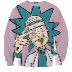 Rick and Morty 3d Print Sweatshirt at And 1 For All for only $29.99 - You'll be the Coolest Kid in the room with this Rick and Morty 3d Print Sweatshirt. With an allover seamless sublimation of a Trippy Visual Print of a Rick, You'll be dripping sauce over all everyone in the room!