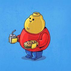 Fat Lego | #Illustration #Geek