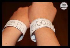 Bracelets to teach beginning sounds, sight words, and blending!