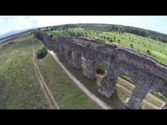 Riprese aeree dell'Acquedotto Appio Claudio - YouTube