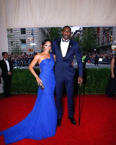 Alexis Welch in Vera Wang and Amar'e Stoudemire