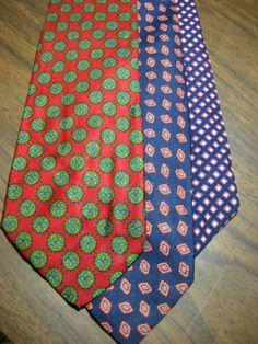 Brooks Brothers Mens Green Striped Wool-Silk Blend Tie Os