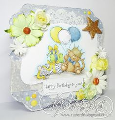 My Mum's Craft Shop, Sanford The Birthday Stuffie!, NG Cards, Stamping Bella, Design Team, By Natalie Grantham