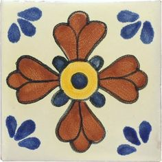 Mexican Tile - 4x4 Blue Seville Talavera by Talavera. $1.55. Characterized as unique, irregular, functional, and expressive.. All our talavera tiles have a red body bisque.. Variations in thickness, flatness, size, colors, design, and squareness.. Our talavera tiles have a 1/4 in. thickness.. Color variation within individual tiles. Crazing effect may be appear before or after installation.. The Sunburst talavera tile can be a perfect complement to decorate a bathroom ...