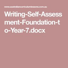 Writing-Self-Assessment-Foundation-to-Year-7.docx