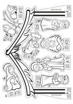Nativity CP or cut outs Preschool Christmas, Christmas Nativity, Christmas Activities, Christmas Crafts For Kids, Christmas Colors, Holiday Crafts, Christmas Holidays, Nativity Coloring Pages, Christmas Coloring Pages