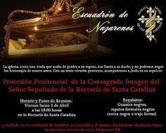 inscripcion a escuadron de nazarenos para procesion de sepultado de santa catalina. #inscripcionescuaresma2015
