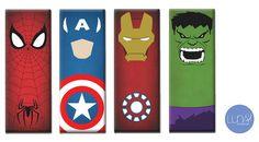 4 Quadros Grandes - Heróis Marvel