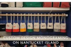 Nantucket Monogram is a high end one-of-a-kind Monogram and embroidery shop that focuses on not only personalization but customizing products.