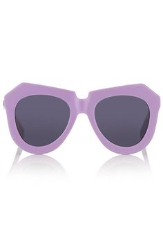 Meet The Must Have Color of the Season - Lilac for Summer/Fall - Elle: Karen Walker Lavender One Worship Sunglasses, $285; avenue32.com