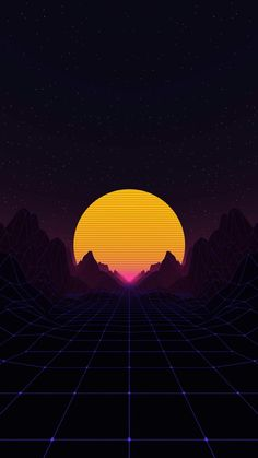 Neon Sun iPhone Wallpaper - iPhone Wallpapers