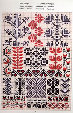 Hand Sewing Leather Patches On Jeans Cross Stitch Borders, Cross Stitch Charts, Cross Stitch Designs, Cross Stitching, Cross Stitch Patterns, Creative Embroidery, Folk Embroidery, Cross Stitch Embroidery, Embroidery Patterns