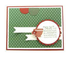 A card using the Tea Shoppe stamp set from Stampin' Up!