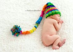 NEWBORN Photography Prop  Baby Knit Hat  Elf  by knitwitwoolies, $45.00