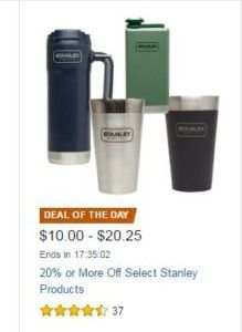 Amazon Deal of the Day – 20% Off Select Stanley Products – includes Stainless Pints | Homebrew Finds