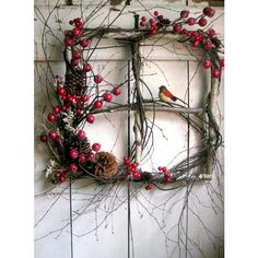 40 Comfy Rustic Outdoor Christmas Décor Ideas ❤ liked on Polyvore featuring backgrounds